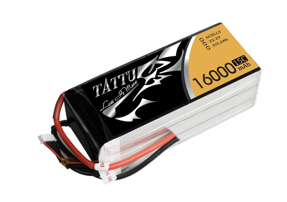 Tattu 16000mAh 22.2V 15/30C 6S1P Lipo Battery Pack